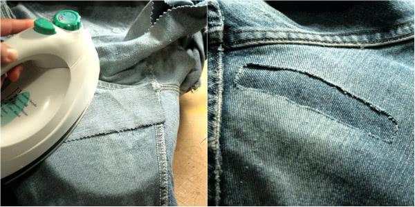 Как починить протертые джинсы так, чтобы окончательно их не испортить.