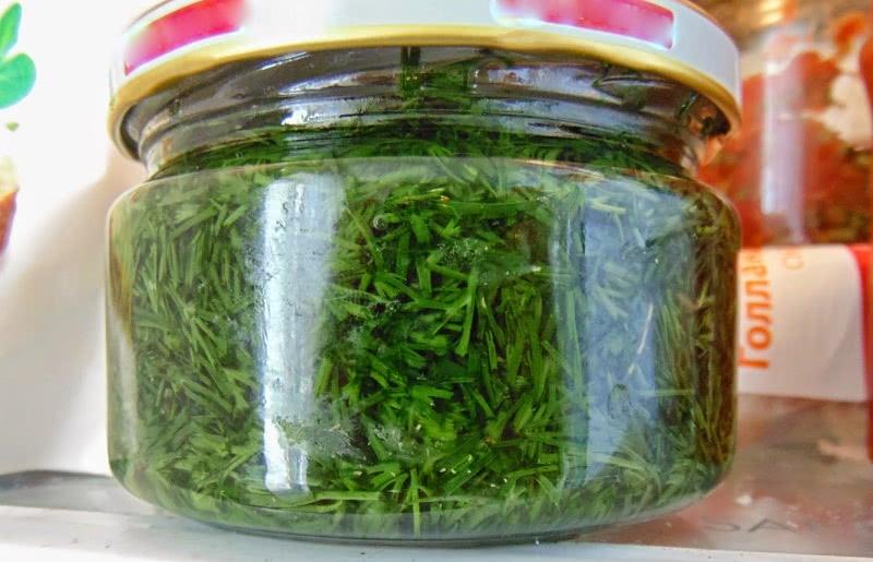 Как сохранить свежую зелень без консервации и заморозки! Зеленое масло в банке.