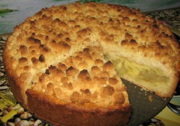 Песочный пирог с яблочной начинкой «Царский». Ради такого диету можно отложить!