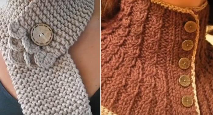 Преимущества вязаной манишки