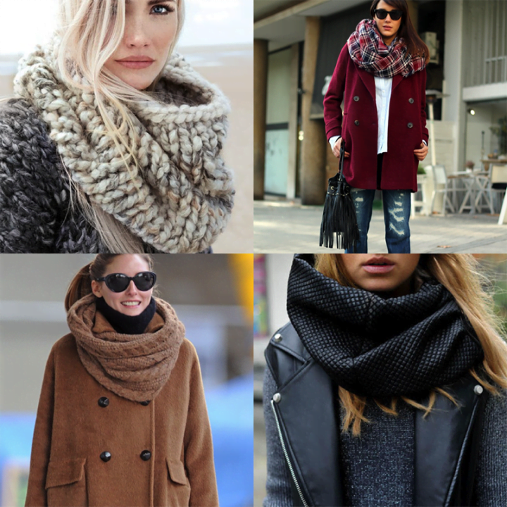 Шаль, платок, шарф… 10 идей, как завязать их, чтобы и грели, и выглядели красиво.