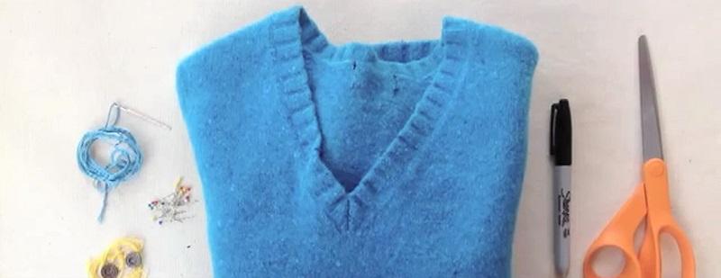 Восхитительная вещь из куска старого свитера. Тепло и уют гарантированы!
