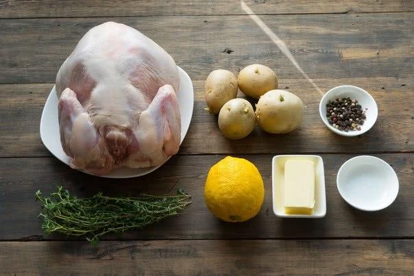 Встреть Новый год со вкусом: запеченная курица с тимьяном и лимоном.