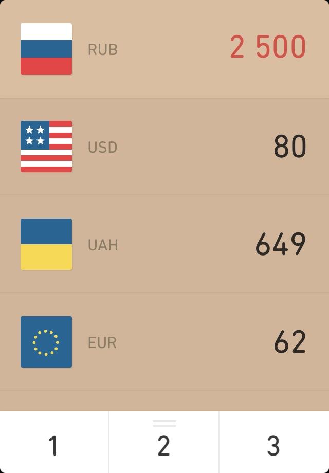 Currency: простий стильний конвертер валют для вашого iPhone